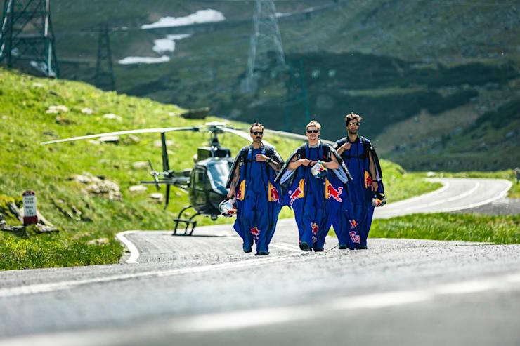 Red Bull Skydive Team, zbor cu wingsuit-ul deasupra Transfăgărășanului, 2021